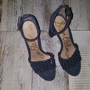 Sam Edelman Blue studded Heels Size 8.5 NWOT